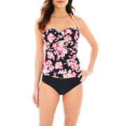 Liz Claiborne® Bandeaukini Swim Top or Hipster Bottoms