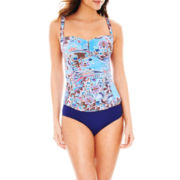 Liz Claiborne® Tankini Swim Top or Hipster Bottoms