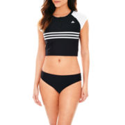 adidas® Swim Cropped Top or Basic Hipster Bottoms
