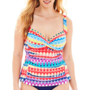 Liz Claiborne® Bandeaukini Swim Top - Plus