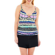 St. John's Bay® Ring-Front Tankini Swim Top or Bottoms - Plus
