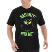 Naughty Grinch Graphic Tee–Big & Tall