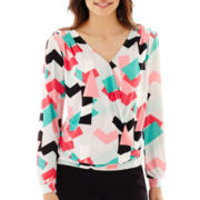 Worthington® Long-Sleeve Crossover Top - Petite