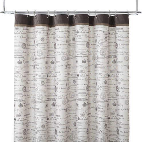 Edwardian Script Shower Curtain