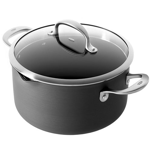 OXO® Pro 6-qt. Hard-Anodized Nonstick Casserole with Spouts and Straining Lid