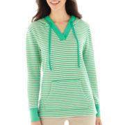 St. John's Bay® Long-Sleeve Hoodie Tunic