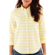 Stylus™ Long-Sleeve Striped Oxford Shirt