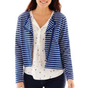 Stylus™ Striped Knit Moto Jacket
