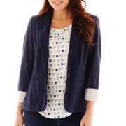 Stylus™ Long-Sleeve Knit Blazer