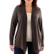 Liz Claiborne® Long-Sleeve Cardigan Sweater - Plus