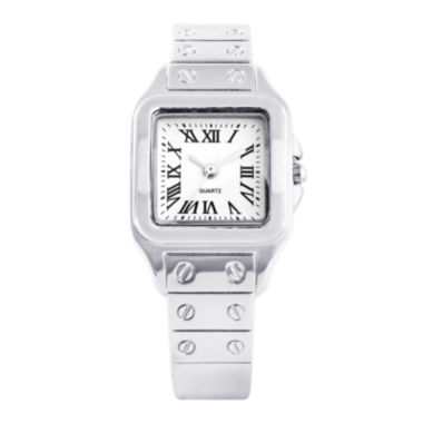 jcpenney.com | Womens Silver-Tone Cuff Bangle Watch