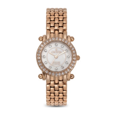 jcpenney.com | Croton Womens Diamond-Accent Rose Gold-Tone Stainless Steel Bracelet Watch