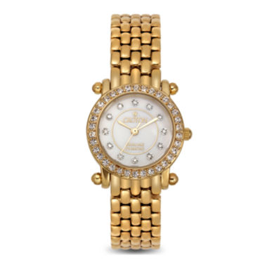 jcpenney.com | Croton Womens Diamond-Accent Gold-Tone Stainless Steel Bracelet Strap Watch