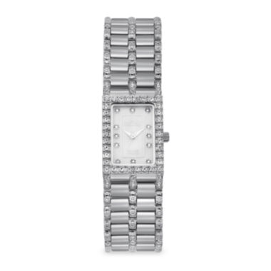 jcpenney.com | Croton Womens Diamond-Accent Square Stainless Steel Bracelet Watch