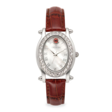 jcpenney.com | Croton Womens October Birthstone Crystal-Accent Red Leather Strap Watch