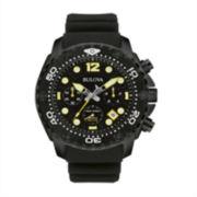 Bulova® Sea King Mens UHF Black Stainless Steel Sport Watch 98B243