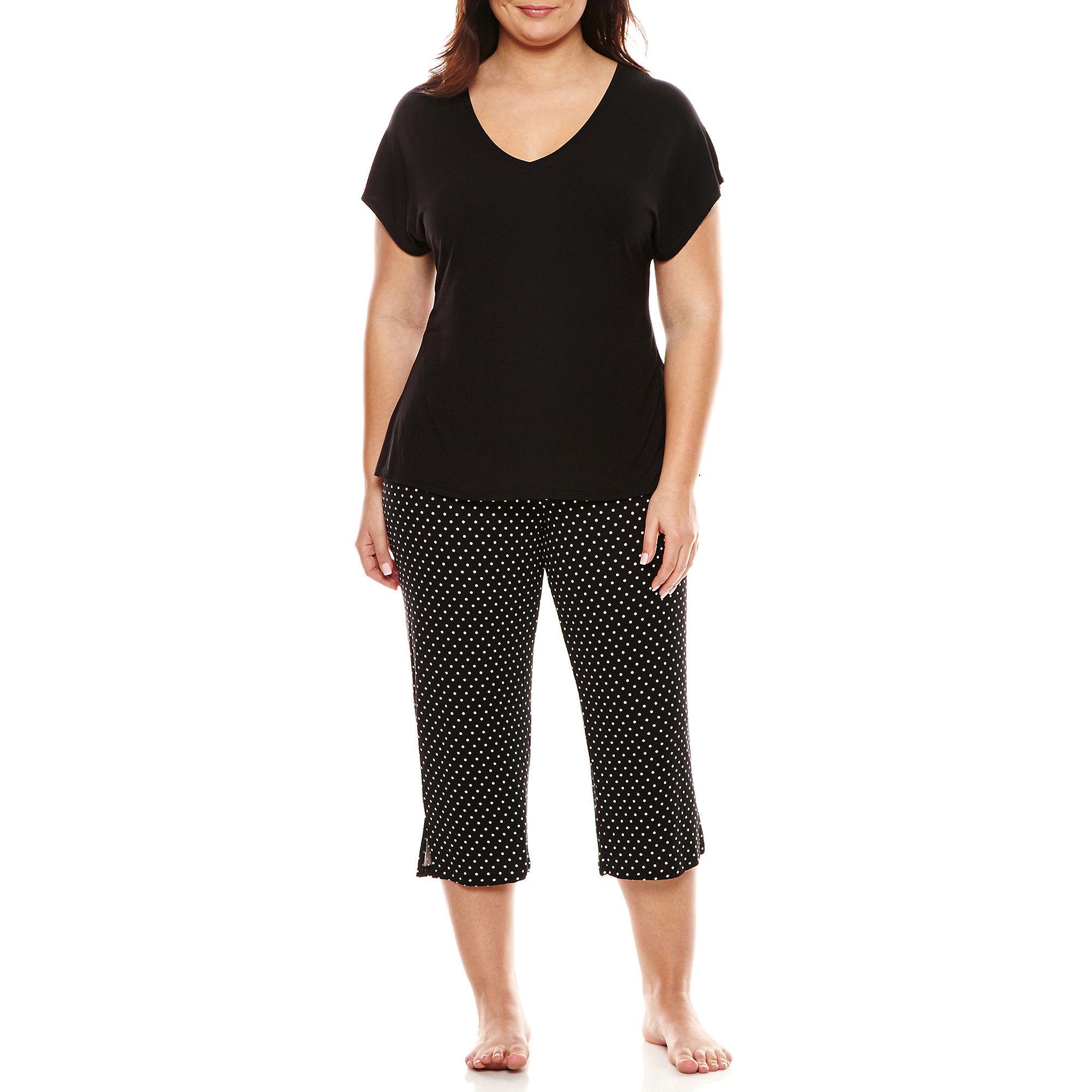 Ambrielle Capri Pajama Set Sleepwear - Plus