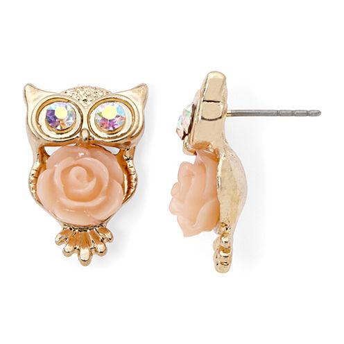 Decree® Owl Flower Earrings