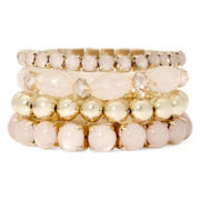 Decree® 4-pc. Stretch Bracelet Set
