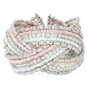 Decree® Braided Beaded Bracelet Cuff