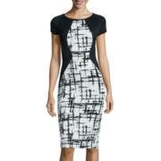 Fifth & Park Cap-Sleeve Colorblock Bodycon Dress