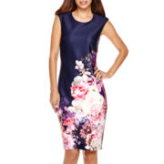Worthington® Sleeveless Printed Sheath Dress