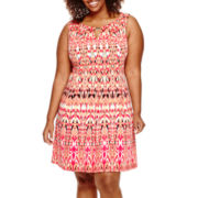 Danny & Nicole® Sleeveless Fit-and-Flare Dress - Plus