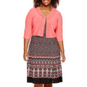 Danny & Nicole® 3/4-Sleeve Jacket Dress - Plus