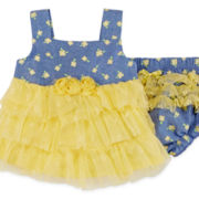 Little Lass® 2-pc. Chambray Set - Baby Girls 3m-18m