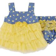 Little Lass® 2-pc. Chambray Set - Baby Girls 3m-18m
