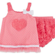Little Lass® 2-pc. Heart Skirt Set - Baby Girls 3m-18m