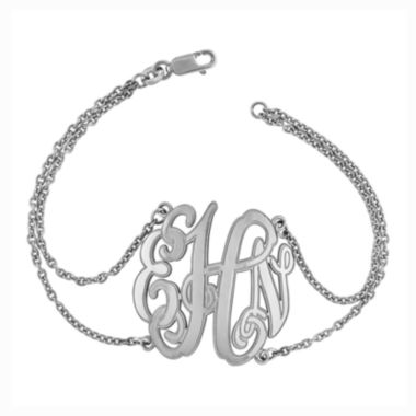 jcpenney.com | Sterling Silver Personalized Etched Monogram Bracelet