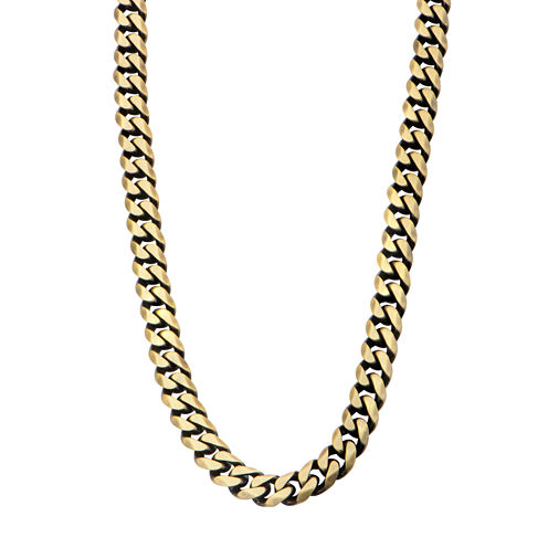 """Gold Tone Stainless Steel 22"""" Curb Chain Necklace"""
