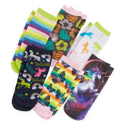 Pink Cookie 6-pk. Unicorn Socks - Girls 6-11