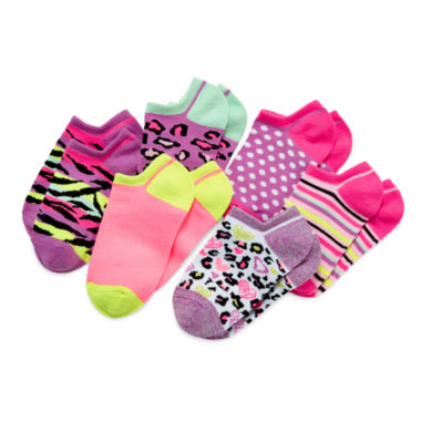 jcpenney.com | Total Girl® 6-pk. Wild Shorty Socks - Girls 6-11