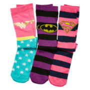 Pink Cookie 3-pk. Superhero Knee-High Socks - Girls 6-11