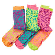 Pink Cookie 3-pk. Animal Knee High Socks - Girls 6-11