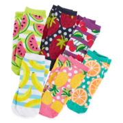 Pink Cookie 6-pk. Fruit Socks - Girls 6-11