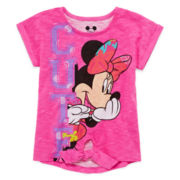 Disney Apparel by Okie Dokie® Minnie Mouse Tie-Front Tee - Toddler Girls 2t-5t