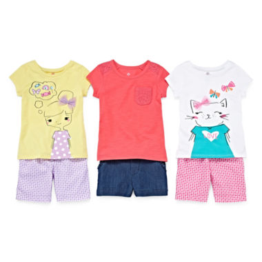 jcpenney.com | Okie Dokie® Tee or Bermuda Shorts - Toddler Girls 2t-5t