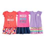 Okie Dokie® Tee or Skort - Toddler Girls 2t-5t