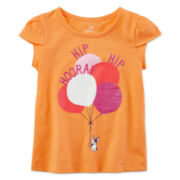 Okie Dokie® Petal-Sleeve Graphic Tee - Toddler Girls 2t-5t