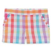 Okie Dokie® Gingham Print Shorts - Toddler Girls 2t-5t