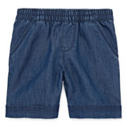 Okie Dokie® Denim Bermuda Shorts - Toddler Girls 2t-5t