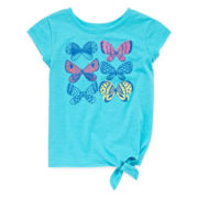 Arizona Graphic Side-Tie Tee - Toddler Girls 2t-5t
