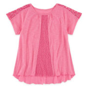 Arizona Lace Peasant Top - Preschool Girls 4-6x