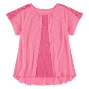 Arizona Lace Peasant Top - Preschool Girls 4-6x