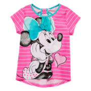 Disney Apparel by Okie Dokie® Minnie High-Low Tee - Preschool Girls 4-6x