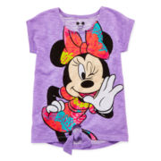 Disney Apparel by Okie Dokie® Minnie Tie-Front Tee - Preschool Girls 4-6x