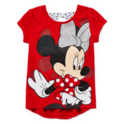 Disney Apparel by Okie Dokie Minnie Mouse Bow Tee - Preschool Girls 4-6x